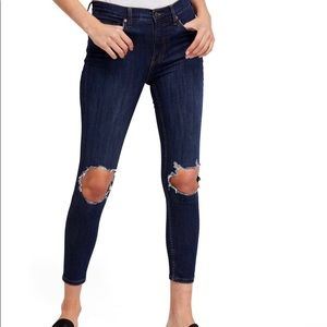 Free People High Waist Ankle Skinny Jeans Size 32